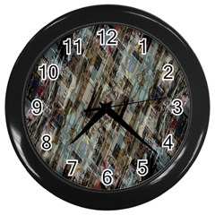 Abstract Chinese Background Created From Building Kaleidoscope Wall Clocks (Black)