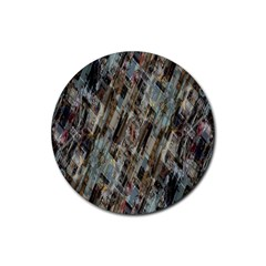 Abstract Chinese Background Created From Building Kaleidoscope Rubber Coaster (round)