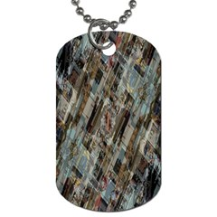 Abstract Chinese Background Created From Building Kaleidoscope Dog Tag (One Side)