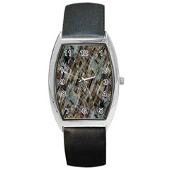 Abstract Chinese Background Created From Building Kaleidoscope Barrel Style Metal Watch