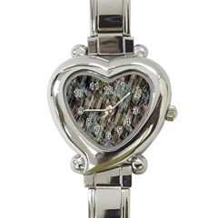 Abstract Chinese Background Created From Building Kaleidoscope Heart Italian Charm Watch