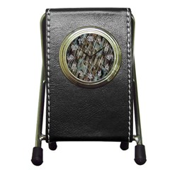 Abstract Chinese Background Created From Building Kaleidoscope Pen Holder Desk Clocks