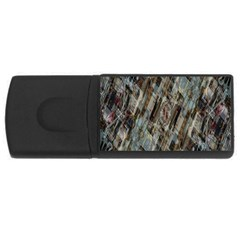 Abstract Chinese Background Created From Building Kaleidoscope Usb Flash Drive Rectangular (4 Gb)