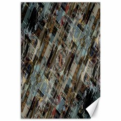 Abstract Chinese Background Created From Building Kaleidoscope Canvas 12  X 18