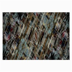 Abstract Chinese Background Created From Building Kaleidoscope Large Glasses Cloth (2 Side)