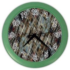 Abstract Chinese Background Created From Building Kaleidoscope Color Wall Clocks