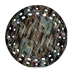 Abstract Chinese Background Created From Building Kaleidoscope Round Filigree Ornament (Two Sides)