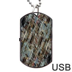 Abstract Chinese Background Created From Building Kaleidoscope Dog Tag Usb Flash (one Side)