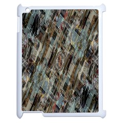Abstract Chinese Background Created From Building Kaleidoscope Apple iPad 2 Case (White)