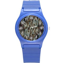 Abstract Chinese Background Created From Building Kaleidoscope Round Plastic Sport Watch (S)