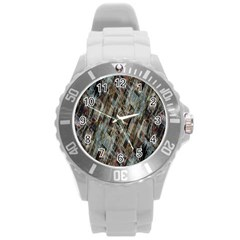 Abstract Chinese Background Created From Building Kaleidoscope Round Plastic Sport Watch (L)