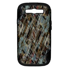Abstract Chinese Background Created From Building Kaleidoscope Samsung Galaxy S III Hardshell Case (PC+Silicone)