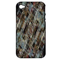 Abstract Chinese Background Created From Building Kaleidoscope Apple iPhone 4/4S Hardshell Case (PC+Silicone)