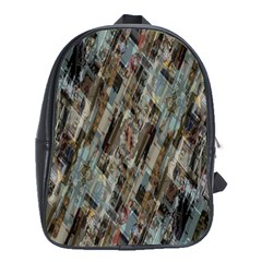 Abstract Chinese Background Created From Building Kaleidoscope School Bags (XL)