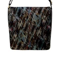 Abstract Chinese Background Created From Building Kaleidoscope Flap Messenger Bag (L)