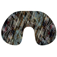 Abstract Chinese Background Created From Building Kaleidoscope Travel Neck Pillows