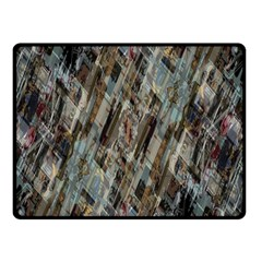 Abstract Chinese Background Created From Building Kaleidoscope Double Sided Fleece Blanket (Small)