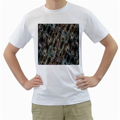 Abstract Chinese Background Created From Building Kaleidoscope Men s T-Shirt (White)