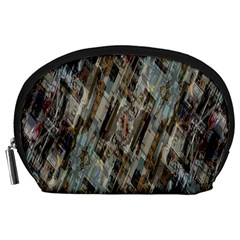 Abstract Chinese Background Created From Building Kaleidoscope Accessory Pouches (Large)