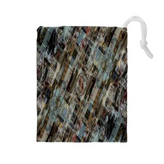 Abstract Chinese Background Created From Building Kaleidoscope Drawstring Pouches (Large)