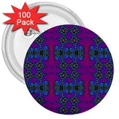 Purple Seamless Pattern Digital Computer Graphic Fractal Wallpaper 3  Buttons (100 Pack)