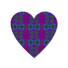 Purple Seamless Pattern Digital Computer Graphic Fractal Wallpaper Heart Magnet