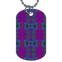 Purple Seamless Pattern Digital Computer Graphic Fractal Wallpaper Dog Tag (one Side)