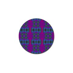 Purple Seamless Pattern Digital Computer Graphic Fractal Wallpaper Golf Ball Marker (4 pack)