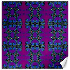 Purple Seamless Pattern Digital Computer Graphic Fractal Wallpaper Canvas 12  X 12