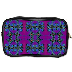 Purple Seamless Pattern Digital Computer Graphic Fractal Wallpaper Toiletries Bags