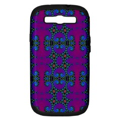 Purple Seamless Pattern Digital Computer Graphic Fractal Wallpaper Samsung Galaxy S III Hardshell Case (PC+Silicone)