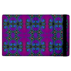 Purple Seamless Pattern Digital Computer Graphic Fractal Wallpaper Apple iPad 2 Flip Case