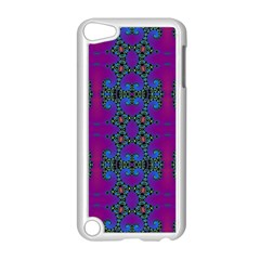 Purple Seamless Pattern Digital Computer Graphic Fractal Wallpaper Apple iPod Touch 5 Case (White)