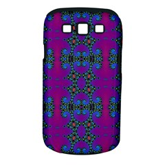Purple Seamless Pattern Digital Computer Graphic Fractal Wallpaper Samsung Galaxy S III Classic Hardshell Case (PC+Silicone)
