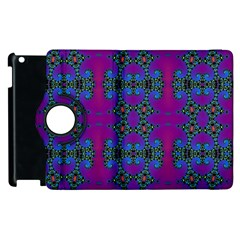 Purple Seamless Pattern Digital Computer Graphic Fractal Wallpaper Apple iPad 2 Flip 360 Case