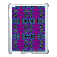 Purple Seamless Pattern Digital Computer Graphic Fractal Wallpaper Apple Ipad 3/4 Case (white)