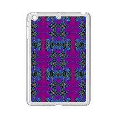 Purple Seamless Pattern Digital Computer Graphic Fractal Wallpaper iPad Mini 2 Enamel Coated Cases