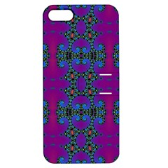 Purple Seamless Pattern Digital Computer Graphic Fractal Wallpaper Apple iPhone 5 Hardshell Case with Stand