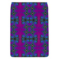 Purple Seamless Pattern Digital Computer Graphic Fractal Wallpaper Flap Covers (L)