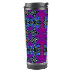Purple Seamless Pattern Digital Computer Graphic Fractal Wallpaper Travel Tumbler