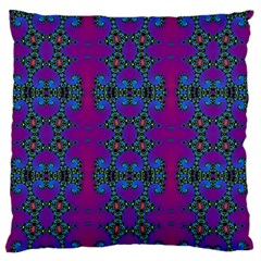Purple Seamless Pattern Digital Computer Graphic Fractal Wallpaper Large Flano Cushion Case (two Sides)