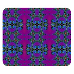 Purple Seamless Pattern Digital Computer Graphic Fractal Wallpaper Double Sided Flano Blanket (Small)