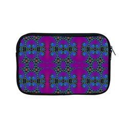 Purple Seamless Pattern Digital Computer Graphic Fractal Wallpaper Apple Macbook Pro 13  Zipper Case