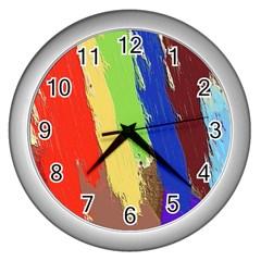 Hintergrund Tapete  Texture Wall Clocks (silver)