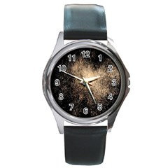 Fireworks Party July 4th Firework Round Metal Watch