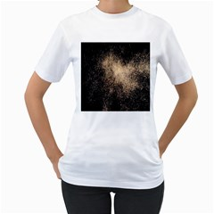 Fireworks Party July 4th Firework Women s T-Shirt (White) (Two Sided)