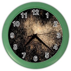 Fireworks Party July 4th Firework Color Wall Clocks