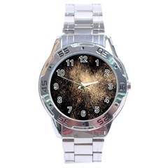 Fireworks Party July 4th Firework Stainless Steel Analogue Watch