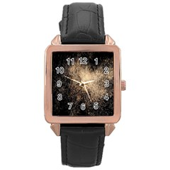 Fireworks Party July 4th Firework Rose Gold Leather Watch