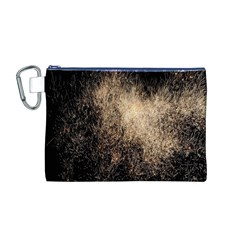 Fireworks Party July 4th Firework Canvas Cosmetic Bag (M)